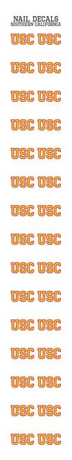 """For all those stylish ladies this is a must have. Cheer on USC, with these easy to apply University Southern California USC Nail Sticker Decals team logo nail decals. Decals feature USC logo. Shop now for your favorite NCAA team accessories at sunsetkeychains.com.Officially licensed collegiate merchandise. Licensee: Worthy Promotional ProductsSticker Decal Application Instructions: Apply 2 or more coats of polish, trim the decal to fit your nail, peel off the white backing, place sticker decal on nail and seal with a clear top coat.These sticker decals are NOT """"""""water slide"""""""" decals. They are stickers. Please do not submerge in water. Please follow the Sticker Decal Application Instructions.30 DecalsDecals are approximetly .25 inches tallFree and fast shipping to all U.S. addresses What would a team be without its adoring fans? The sports spectator is such an important part of the game. Without you cheering on your favorite player or team, athletes wouldn't be nearly as driven as they are. All of us here at Sunset Key Chains know the vast amount of benefits sports have offered not only players, but fans as well. Following our favorite sports programs, teams, and athletes not only allows us to be more social, it gives us a sense of pride, and in some small way allows us to share in the joy of a team's victory. We are huge fans ourselves and have the utmost respect for the many athletes and sportsmanlike teams that are such positive role models. So cheer, root, and whistle on! Sunset Key Chains - We've got your team...and more!We are your premier site for sports novelty gifts and carry officially licensed products for all the major league teams: football, baseball, basketball, hockey and soccer. We also have products for several NCAA teams for the college student or alumnus/alumnae. Make sure to shop and browse our website for fans of other items, like Disney, NASCAR, Marvel comics, DC Comics and much more. As always we have free shipping on all products shipped to th"""