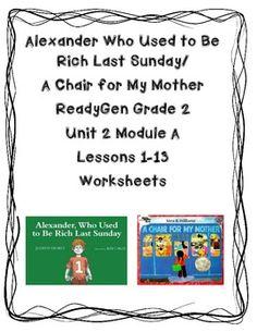 ReadyGen Worksheets 2nd Gr. Unit 2A  Lessons 1-13 Alexande