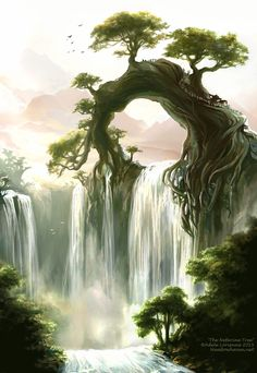 The Nefarine Tree by Saimain.deviantar… on – The Nefarine Tree by Saimain.deviantar… on – The Nefarine Tree by Saimain. Fantasy Art Landscapes, Fantasy Landscape, Fantasy Artwork, Landscape Art, Fantasy Trees, Fantasy Forest, Fantasy Places, Fantasy World, Fantasy Art Men