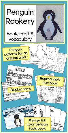 Penguin Rookery: book, craft & vocabulary