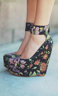 Floral Wedges.