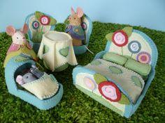On Toadstool Lane Furniture PDF Sewing Pattern French Knot Stitch, Lane Furniture, Doll Furniture, Patterned Sheets, Blanket Stitch, Pdf Sewing Patterns, Pattern Paper, Paper Patterns, Felt Crafts