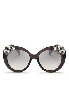 1d8abfcede Jimmy Choo Megan Round Mirrored Sunglasses
