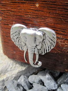 Drawer knobs / cabinet pulls with Elephant in Silver by DaRosa, $7.00