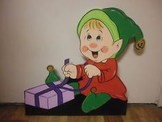 Christmas Xmas Outdoor Garden Yard ART Decoration Display CUT OUT ELF Santa | eBay