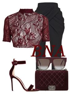 BNA by deborahsauveur on Polyvore featuring polyvore fashion style Balmain Gianvito Rossi CÉLINE Chanel clothing