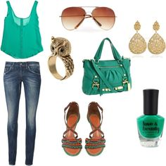 Green!, created by avery-232 on Polyvore