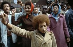 WASHINGTON, D.C.—The Black Panthers at an anti-Vietnam demonstration, 1969.