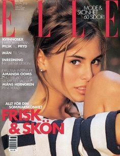 Elle 1991 features a young Nikki Taylor