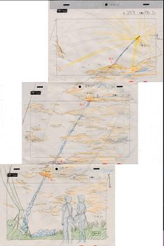 """新海誠さんのツイート: """"秒速5センチメートル・公開7周年「コスモナウト」:ロケット打ち上げシーン、レイアウトです。…"""