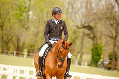 The partnership on dressage duty. Photo: Thoroughbred Aftercare Alliance