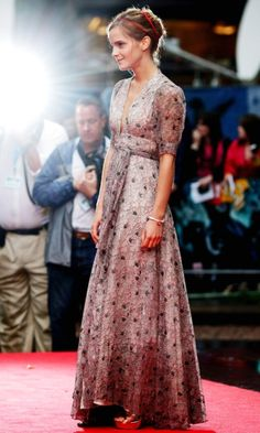 Emma Watson in Ossie Clark dress | 2012