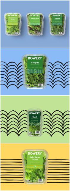 Red Antler - Bowery Farming Rebrand #freshfood #packaging