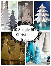 . You Pinspire Me .: 10 Simple DIY Christmas Trees