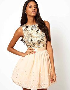Little Mistress Jewelled Bodice Prom Dress