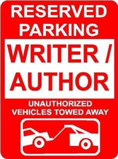"Amazon.com: WRITER /AUTHOR 9""x12"" Aluminum novelty parking sign wall décor art Occupations for indoor or outdoor use.: Patio, Lawn & Garden"