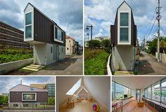 7 ideias de casas feitas para terrenos pequenos