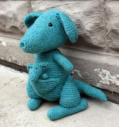 Blogged: Amber the Kangaroo by Stacey Trock - my project for the FreshStitches Mystery CAL earlier this year