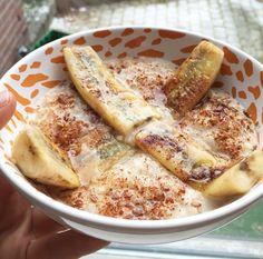Havermout met gebakken banaan | #havermout #gebakkenbanaan #banaan #ontbijt