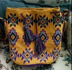 Tapestry Bag, Tapestry Crochet, Filet Crochet, Knit Crochet, Crochet Purses, Girls Bags, Crochet Fashion, Crochet Accessories, Cross Stitch Embroidery