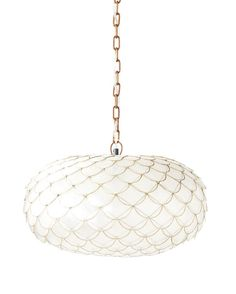 Serena & Lily Capiz Scalloped Chandelier($298): Give your dining room, living room, or even bedroom extra cool factor with a scalloped pendant light. The gilded edge is totally glam — kinda like the Little Mermaid, but all grown up