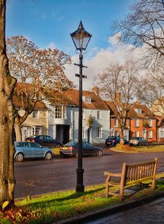Broad Street in Alresford, Hampshire_ England