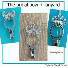 Eternity lanyard with bridal bow.