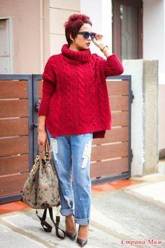 Опрос завешен успешно, начинаем вязать свитер. Опрос в Стране Мам: Свитер owersize  Есть желающие на такой свитерок? В опросе приняли участие 156 пользователей.