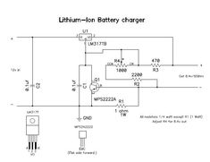 You will need this project when you have an extra mobile battery or you need to charge any lithium, Lithium ion or Lithium Polymer battery. Maximum current is about. Battery Charger Circuit, Lithium Battery Charger, Big Battery, Hobby Electronics, Electronics Basics, Electronics Projects, Power Supply Circuit, Circuit Diagram, Arduino