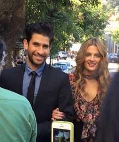 Stana with Raza Jaffrey at The Rendezvous Premiere