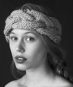 Braided Headband Earwarmer  Would make a lovely scarf too
