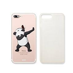 Cute Panda Dance Clear Transparent Plastic Phone Case for...