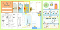 Summer End of School Year Junior Activity Pack End Of School Year, End Of Summer, Seaside, Activities, Learning, Holiday, Crafts, Vacations, Manualidades