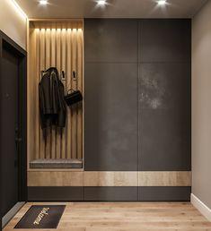 Idea for a narrow long corridor. Do you like dark color in . Idea for a narrow long corridor. Do you like dark color in …- Hall Wardrobe, Diy Wardrobe, Apartment Entrance, House Entrance, Hallway Designs, Closet Designs, Hallway Furniture, Entryway Decor, Room Interior