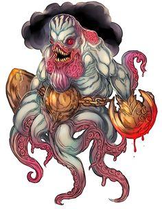 Pelagic Guardian from Darkest Dungeon