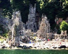 """Ladonia, a micronation made up of driftwood, nails, and nine-story wooden """"fortresses"""" located in the southwest corner of Sweden. Designed by Lars Vilks"""