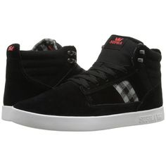 Supra Bandit (Black Suede) Men's Skate Shoes ($60) ❤ liked on Polyvore featuring men's fashion, men's shoes, men's sneakers, mens black skate shoes, mens lightweight running shoes, mens suede shoes, mens black sneakers and mens sneakers