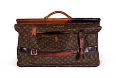 score.  vintage monogrammed LV hunting bag from the estate of Tony Duquette.  from OKL.