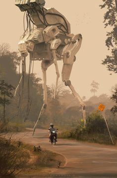 ArtStation - crossing by col priceMore robots here....