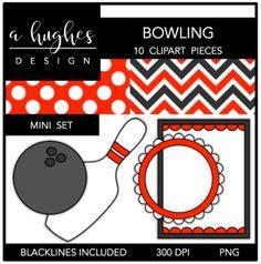 Bowling Mini Clipart Bundle {A Hughes Design}