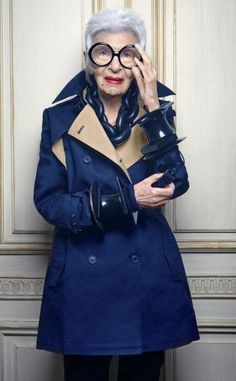 """""""Retirement is a fate worse than death"""": Iris Apfel."""