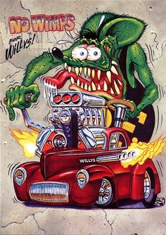 """Rat Fink Ed """"Big Daddy"""" Roth Dodge art. Description from pinterest.com. I searched for this on bing.com/images"""