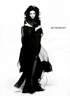 Mariacarla Boscono has served as a Givenchy muse for almost ten years now and has fronted well over a dozen campaigns for the label. We love this campaign from the fall 2005 season featuring the Italian model in a dramatic cape. (Photo by Inez & Vinoodh)