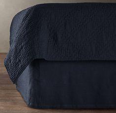 Stonewashed Belgian Linen Bed Skirt