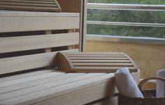 Suite category 7 with sauna Saunas, Top Hotels, Porch Swing, Outdoor Furniture, Outdoor Decor, Austria, Home Decor, Decoration Home, Room Decor