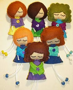 dolls these would make cute brooches