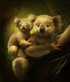Koalas by ElenaDudina.deviantart.com on @deviantART