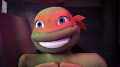 Awe mikey! Tmnt 2012, Ninja Turtles Art, Teenage Mutant Ninja Turtles, Cartoon Shows, Cartoon Characters, Tmnt Mikey, Tmnt Leo, Pet Frogs, Fanart