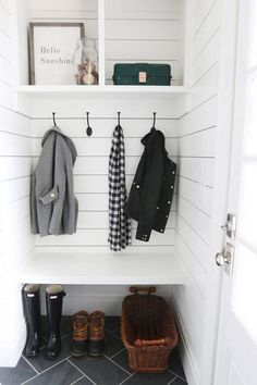 Discover these chic ways of maximizing your mudroom when you're tight on space.