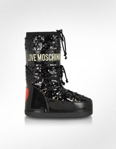 Moschino Love Moschino - Black Sequins Boots
